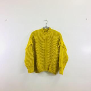 ジーユー(GU)の備品 フリンジ セーター(ニット/セーター)