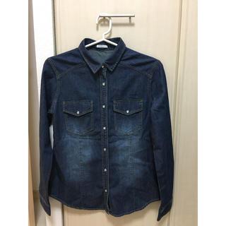 ジーユー(GU)の未使用 デニムシャツ Mサイズ GU (シャツ/ブラウス(長袖/七分))