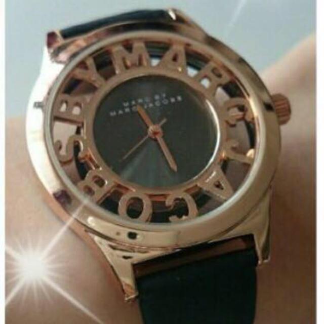 MARC BY MARC JACOBS(マークバイマークジェイコブス)のまや様 ブラック ホワイト レディースのファッション小物(腕時計)の商品写真