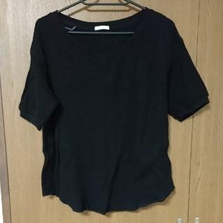 ジーユー(GU)のGU ワッフルVネックT(Tシャツ(半袖/袖なし))