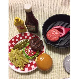ミニ食品サンプル アメリカンダイナー ハンバーガー(ミニチュア)