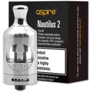 アスパイア(aspire)のノーチラス2 22mm Silver🌷美品🎃(タバコグッズ)