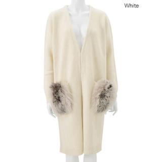 チェスティ(Chesty)のchesty チェスティ Fur Long Knit Coat ホワイト(毛皮/ファーコート)