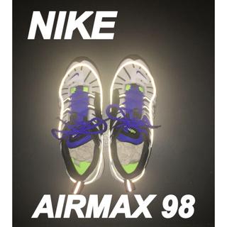 ナイキ(NIKE)の[NIKE] AIRMAX98 white/black racer blue(スニーカー)