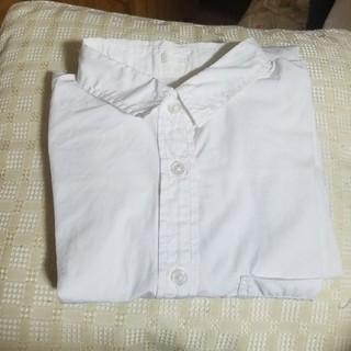 ジーユー(GU)のGU 長袖 白シャツ(シャツ/ブラウス(長袖/七分))