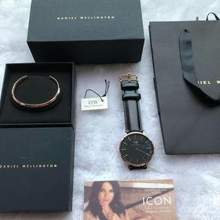 ダニエルウェリントン(Daniel Wellington)のダニエルウェリントン 腕時計 40MM ローズゴールド バングルセット(腕時計(アナログ))