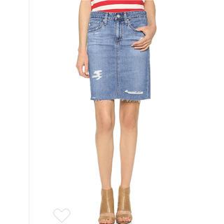 アドリアーノゴールドシュミット(ADRIANO GOLDSCHMIED)の美品 デニムペンシルスカート(ひざ丈スカート)