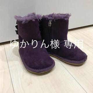 ミキハウス(mikihouse)のリボン付きムートンブーツ(ブーツ)