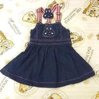 [Lazoo] デニムジャンパースカート size90(ワンピース)
