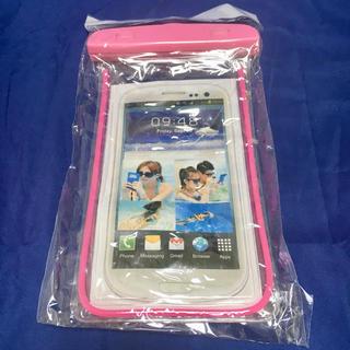 新品 未開封 スマホ用 防水ケース 携帯用 iPhone ピンク(iPhoneケース)