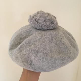 マーガレットハウエル(MARGARET HOWELL)のPois E MARY ベレー帽 ポイゼ  (ハンチング/ベレー帽)