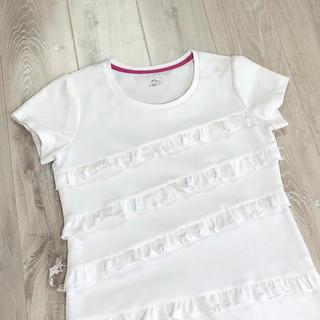 ニューバランス(New Balance)のニューバランス NB レディース ホワイト フリル Tシャツ サイズM(ウェア)