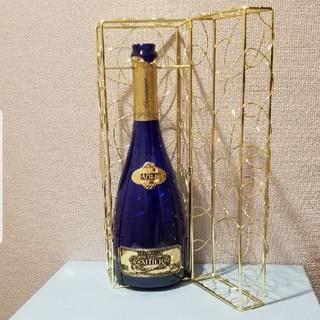 ドンペリニヨン(Dom Pérignon)のキャティア・ブリュットサファイアゴールド箱付き空瓶!(シャンパン/スパークリングワイン)