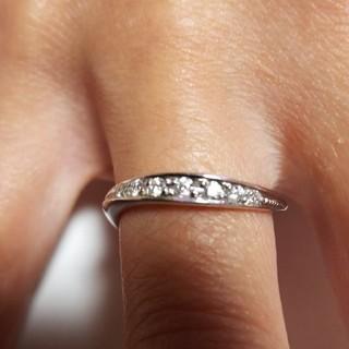 ヨンドシー(4℃)の(限界値下げ) k18wg ダイヤ7個 サイズ8号(リング(指輪))