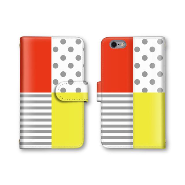 e3d5cf110e スマホケース 手帳 全機種対応 送料無料 おしゃれ カバー ボーダー ドット スマホ/家電/カメラ