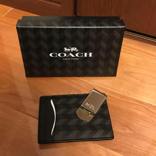 コーチ(COACH)のコーチ マネークリップ カードケース セット 新品 ブラック(マネークリップ)