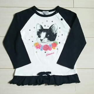 シャマ(shama)のねこ ラグランTシャツ 90㎝(Tシャツ/カットソー)