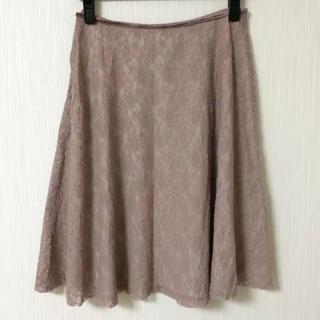 ヨンドシー(4℃)の花柄レース スカート(ひざ丈スカート)