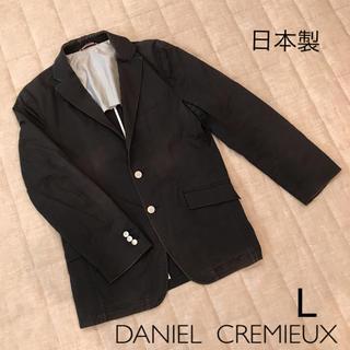 ダニエルクレミュ(DANIEL CREMIEUX)のDANIEL CREMIEUX  コットンジャケット   Lサイズ  ブラック(テーラードジャケット)