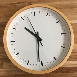 ムジルシリョウヒン(MUJI (無印良品))の壁掛け電波時計(掛時計/柱時計)