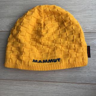マムート(Mammut)のMAMMUT ニット帽 黄色  (登山用品)