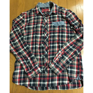 シマムラ(しまむら)の美品*赤✕紺 チェックシャツ(シャツ)