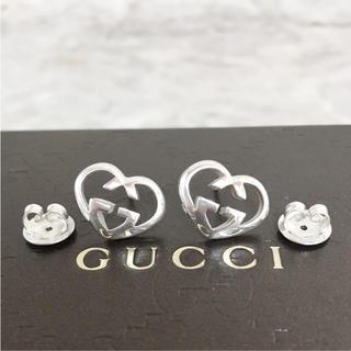 616fb8d14d36 グッチ(Gucci)の正規品 グッチ ピアス ハート シルバー 銀 925 SV GG ロゴ