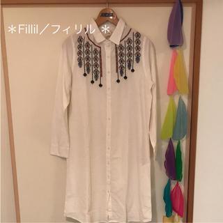 メルロー(merlot)の*Fillil/フィリル*新品 カラフル刺繍ワンピース(ロングワンピース/マキシワンピース)