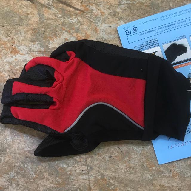 特価50%引き『ウベックス エルゴグリップ サイクル用 長指グローブ』Sサイズ赤 スポーツ/アウトドアの自転車(ウエア)の商品写真