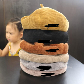 大人気! ロゴ入りキッズ ベレー帽 (帽子)