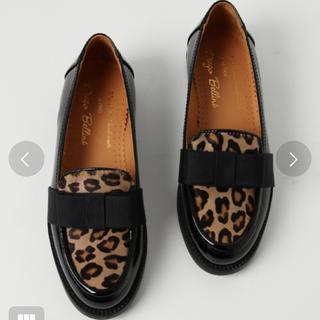 ディエゴベリーニ(DIEGO BELLINI)のレオパードオペラシューズ(ローファー/革靴)