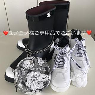 シャネル(CHANEL)の❤️シャネル❤️2018秋冬新品未使用✨CHANELロゴ入スニーカーホワイト39(スニーカー)