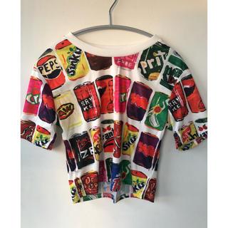 エーシーディーシーラグ(ACDC RAG)のACDC RAG 柄 ティーシャツ Tシャツ 半袖 レディース 新品 ショート丈(Tシャツ(半袖/袖なし))
