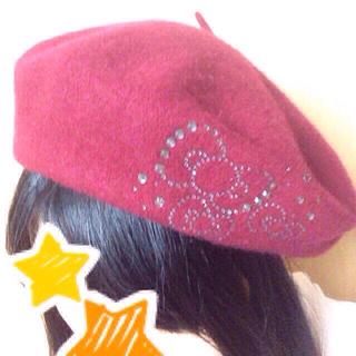 アースミュージックアンドエコロジー(earth music & ecology)のearth*ハローキティコラボ ベレー帽(ハンチング/ベレー帽)
