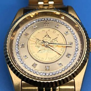 エルジン(ELGIN)の出品11月10日まで。ELGIN  腕時計 K24 メープル金貨入り(腕時計(アナログ))