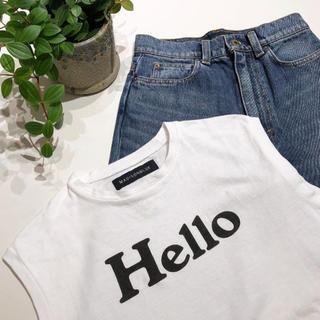 マディソンブルー(MADISONBLUE)のMADISONBLUE💙Helloタンクトップ  ロゴTシャツ(タンクトップ)