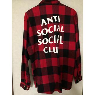 アンチ(ANTI)のANTI SOCIAL SOCIAL CLUB フラネルシャツ size L(シャツ)
