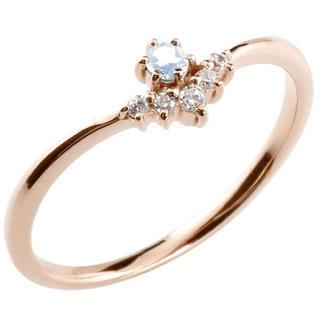 激安!ブルームーンストーン ダイヤモンド ピンキーリング(リング(指輪))