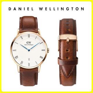 ダニエルウェリントン(Daniel Wellington)の【国内保証付】新品未使用 ダニエルウェリントン 38mm ゴールド ブラウン(腕時計(アナログ))