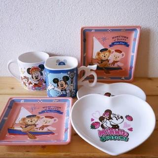 ディズニー(Disney)のディズニーリゾート限定○スーベニアお皿とマグカップ6点ダッフィーシェリーメイ(食器)