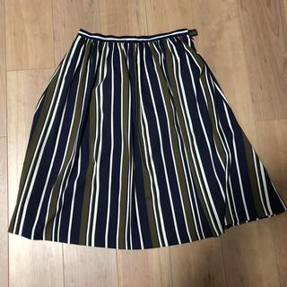 ストラ(Stola.)のストラ   ストライプ柄スカート(ひざ丈スカート)