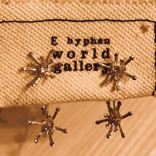 イーハイフンワールドギャラリー(E hyphen world gallery)の雪の結晶ピアス⭐️(ピアス)