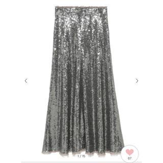 ミラオーウェン(Mila Owen)のミラオーウェン スパンコール スカート(ひざ丈スカート)
