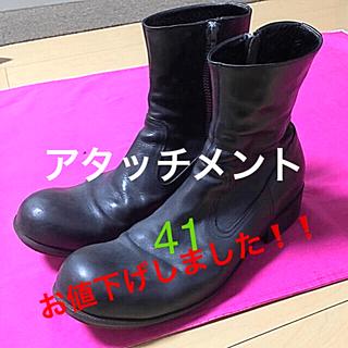 アタッチメント(ATTACHIMENT)の ❤️アタッチメント  サイドジップブーツ  41黒  劇レア品❗️(ブーツ)