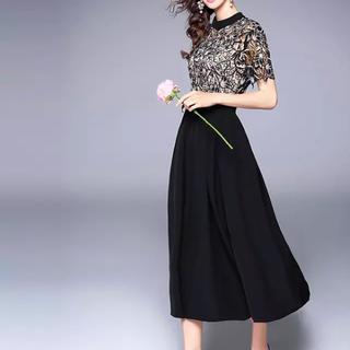 セルフポートレイト(SELF PORTRAIT)の花柄 刺繍 マキシ丈  ロング パーティー ドレス 二次会 エレガント(ロングドレス)