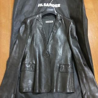 ジルサンダー(Jil Sander)のJIL SANDERレディースレザージャケット(テーラードジャケット)