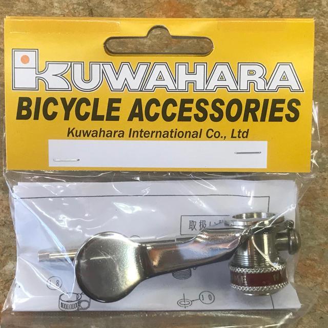 クワハラ『ヒラメ ポンプホースヘッド横カム式 ホースバンド付き』 スポーツ/アウトドアの自転車(パーツ)の商品写真