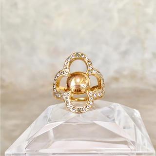 ルイヴィトン(LOUIS VUITTON)の正規品 ヴィトン 指輪 バーグパワーフラワー M66089 リング ゴールド 2(リング(指輪))