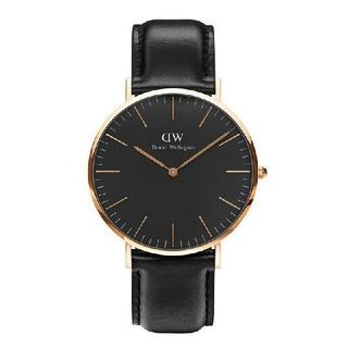 ダニエルウェリントン(Daniel Wellington)のダニエルウェリントン D W 40mm クラシックブラック(腕時計(アナログ))
