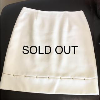 エポカ(EPOCA)のEPOCA ♡ エポカ  ホワイト スカート(ひざ丈スカート)